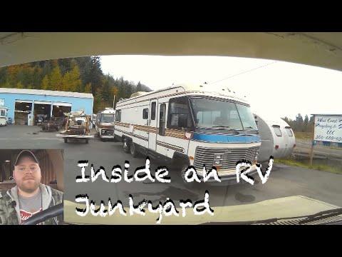 Inside An RV Junkyard For Parts