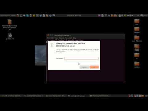 how to gain root permission on the desktop gui in ubuntu