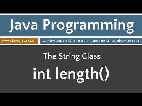 Learn Java Programming - String Class Tutorials length()