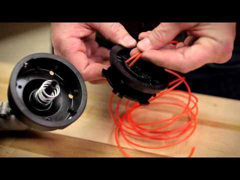 String Trimmer Head | How to install new trimmer line on a traditional bump head