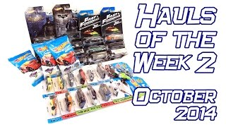 Hot Wheels Hauls of October, Week 2, 2014: Fast and Furious, Batman, 2015 Case-A