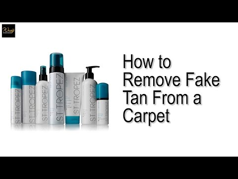 How to remove fake tan from a carpet.