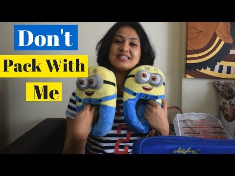 Don't Pack With Me | (the pack with me) Parody