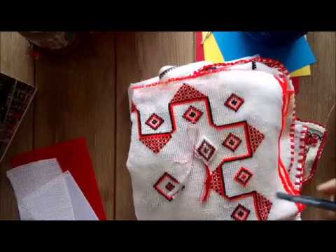 DIY Romanian marshall with motifs traditional Tutorial
