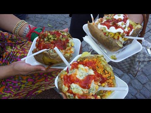 istanbul street food   Kumpir (baked patato)   turkey street food