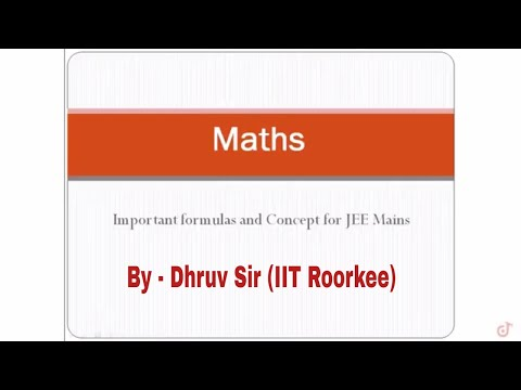 Important formulas and concept for JEE mains | Complete syllabus Revision for Maths