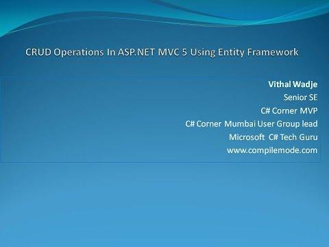 CRUD Operations In ASP.NET MVC 5 Using Entity Framework