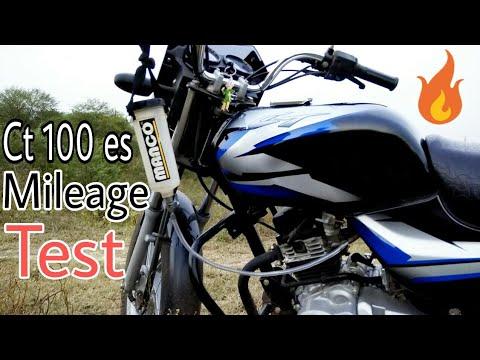 Bajaj Ct 100 es BS4 AHO Mileage test 2018