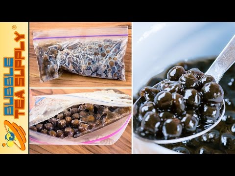 How to Freeze and Unfreeze Bubble Tea Supply Boba Tapioca