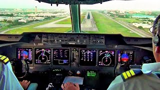 MD-11 Cockpit View - Landing in Miami,  Martinair Cargo