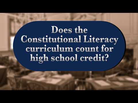 Apologia's Constitutional Literacy and High School Credit