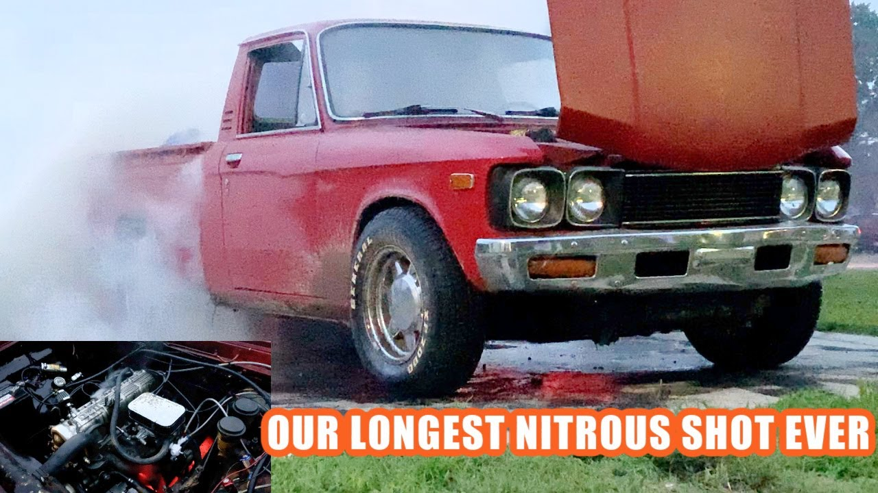 Chevy LUV Inhales Nitrous for A full Minute and Melts the Exhaust! Finnegan's Garage Ep.126
