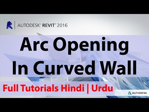 How To Create Arc Opening In Curved Wall Autodesk Revit | Hindi | Urdu |