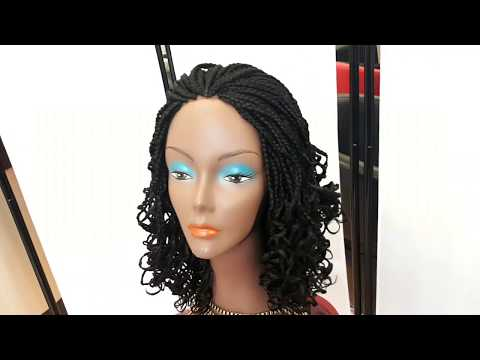 How to make realistic looking curly braids wig.