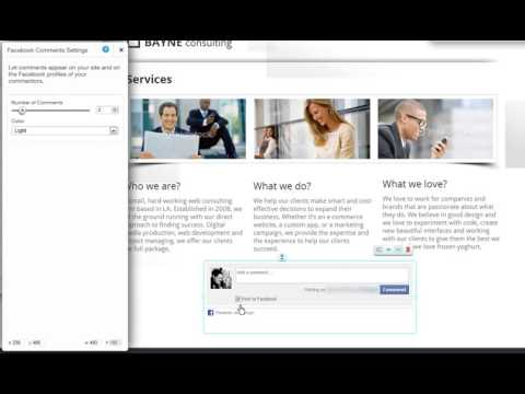 HTML Website Builder   Adding a Facebook Comments Box to your Wix com website