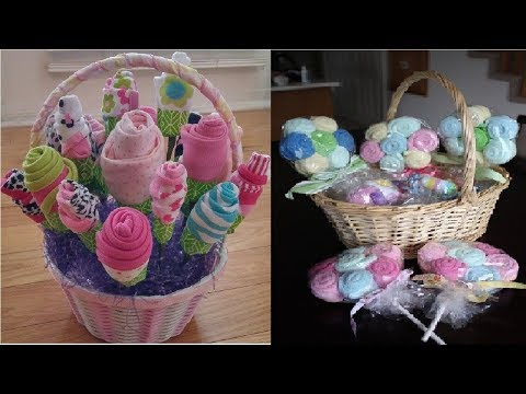 How to Make a Baby Shower-Baby Clothing Bouquet