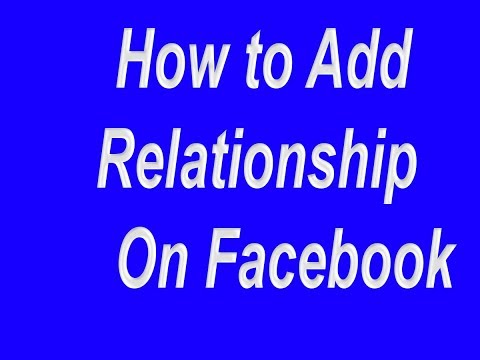 how to add relationship status on facebook 2017