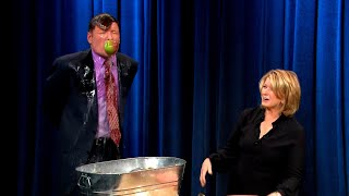 Conan Bobs For Apples With Martha Stewart   Late Night with Conan O'Brien