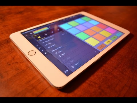 iMaschine 2 - Making a Song Live (iPad Mini) - Part 1