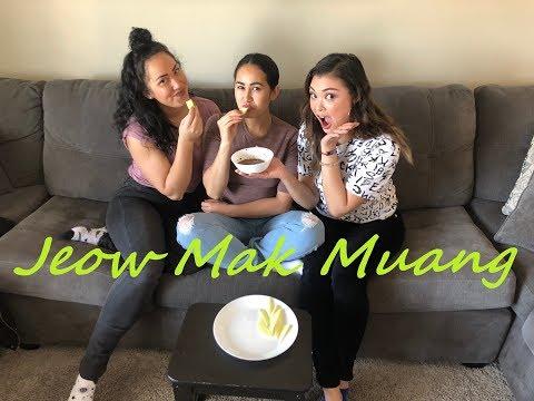 How to Make Jeow Mak Muang (Lao Spicy Mango Dip & Salt and Chili Pepper Dip)