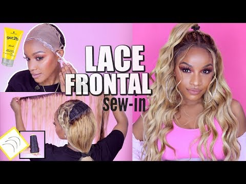 Save Money, Sis! DIY Blonde Lace Frontal Sew-In Weave ft. Ali Grace