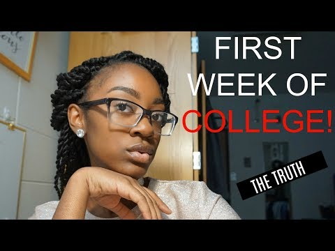 FIRST WEEK OF COLLEGE ‼️Classes, Roommate, RA, Clubs, Parties & More
