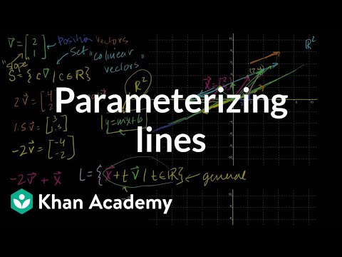 Parametric representations of lines | Vectors and spaces | Linear Algebra | Khan Academy