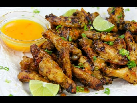 Grilled Spicy Mango Chicken Wings.