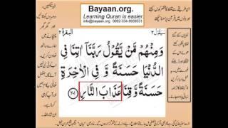 Quran in urdu Surah AL Baqara 002 Ayat 201 Learn Quran translation in Urdu Easy Quran Learning