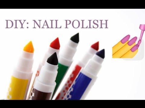 DIY CRAYOLA NAIL POLISH! I How to make nail polish made of markers! • JamCan