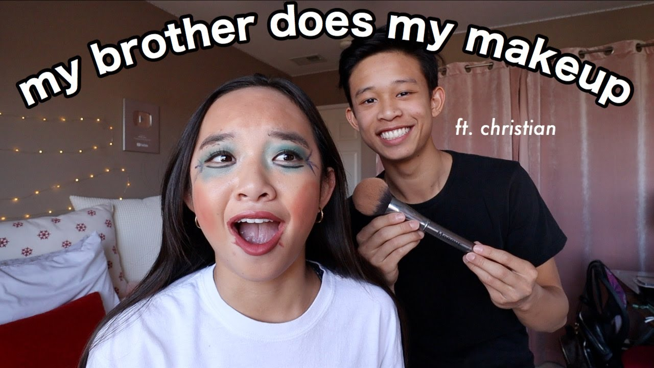 MY BROTHER DOES MY MAKEUP | Nicole Laeno