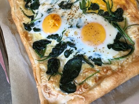 Spinach and Egg Tart - Episode 318 - Baking with Eda