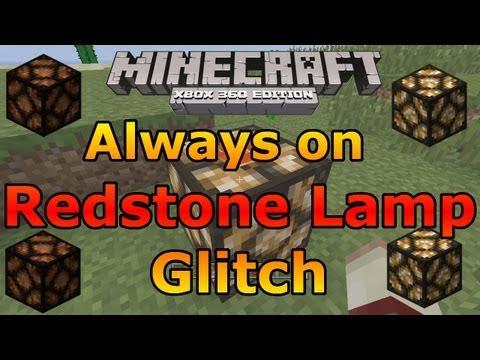Minecraft Xbox 360: Always on Redstone Lamp Glitch! [Tutorial]