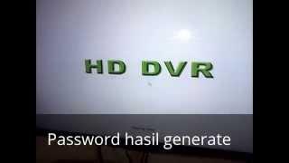 CCTV DVR Admin Password reset - Vidly xyz