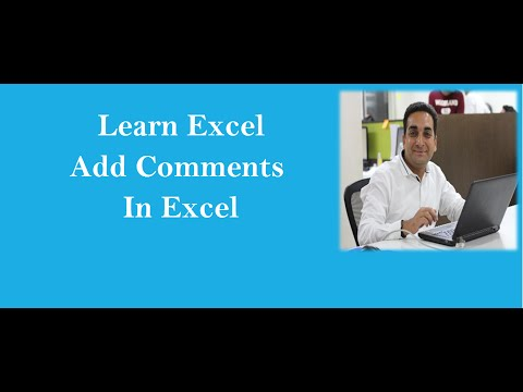 MS Excel : Insert Comments In Excel Hindi