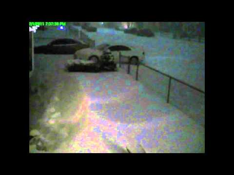 Thundersnow captured on surveillance camera