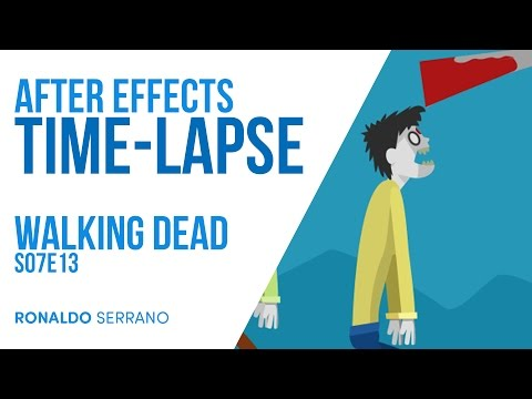 Time Lapse - Walking Dead Loop Animation in After Effects - S07E13