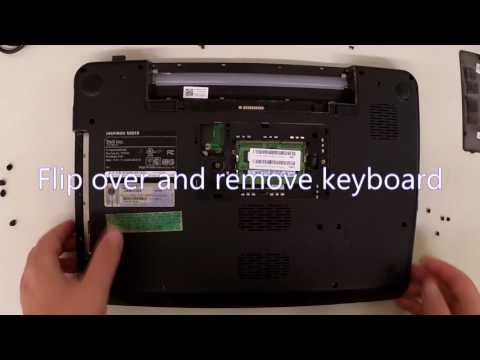Dell Inspiron N5010 Hard Drive Memory DVD Drive & Keyboard Removal Disassembly