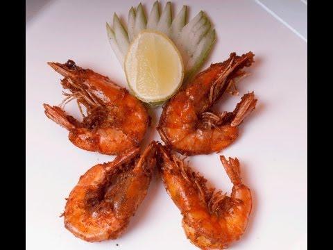 Crispy Fried Shrimp - Prawns with Shell on - By Vahchef @ Vahrehvah.com