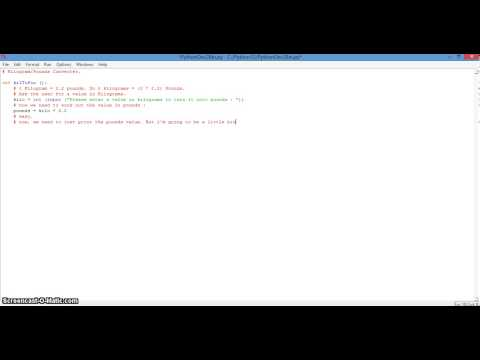 Python Programming - Kilos to Pounds Converter