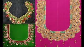 b4466aac4ed4d Amazing Aari Embroidery Work Blouse Designs For Wedding Pattu Sarees ...