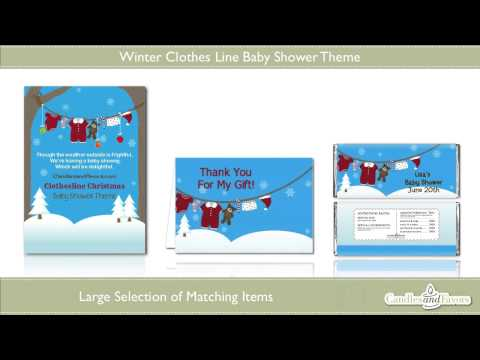 Candles & Favors Winter Clothesline Baby Shower Theme Showcase