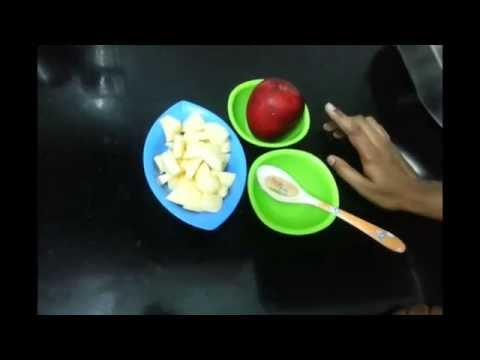 Apple Puree for babies (Tamil) with english sub titles