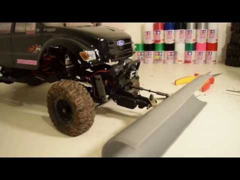 HOW to build a SCX10 Snow plow / scaler / trailer