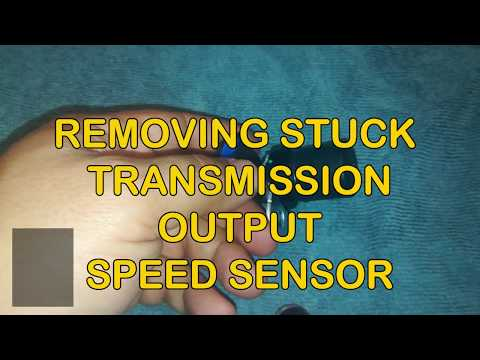 ▶️How to Remove Stuck Transmission Output Speed Sensor On a Ford Mustang Mustang