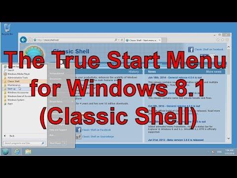 The True Start Menu Windows 8.1 (Classic Shell)