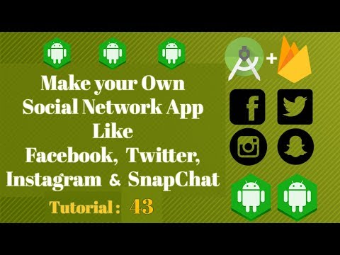 Social Network App Android Tutorial 43 - firebase recyclerview adapter For displaying Comments