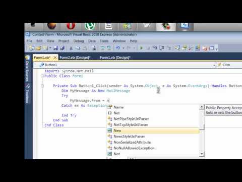 [VB 2010] Tutorial #3 - Creating A Contact Us Form