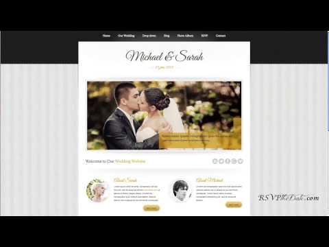 RSVP the Date Wedding Website Options