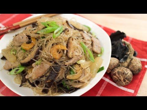 Glass Noodle Stir-Fry Recipe Hainanese Style ผัดวุ้นเส้นไหหลำ - Hot Thai Kitchen!